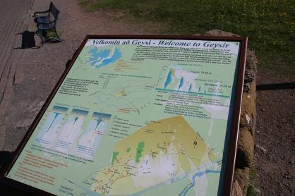 Island Geysir Infotafel