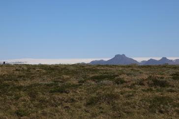 Island Langjökull vom Gullfoss aus