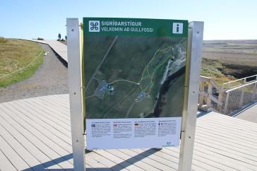 Island Schild am Gullfoss