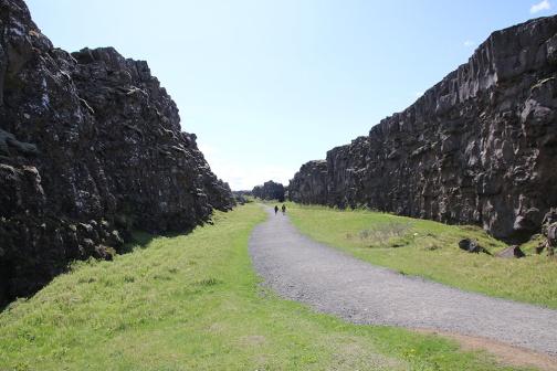 Island Thingvellir Weg durch den Graben von P3 aus