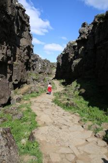 Island Thingvellir Weg durch den Graben von P3