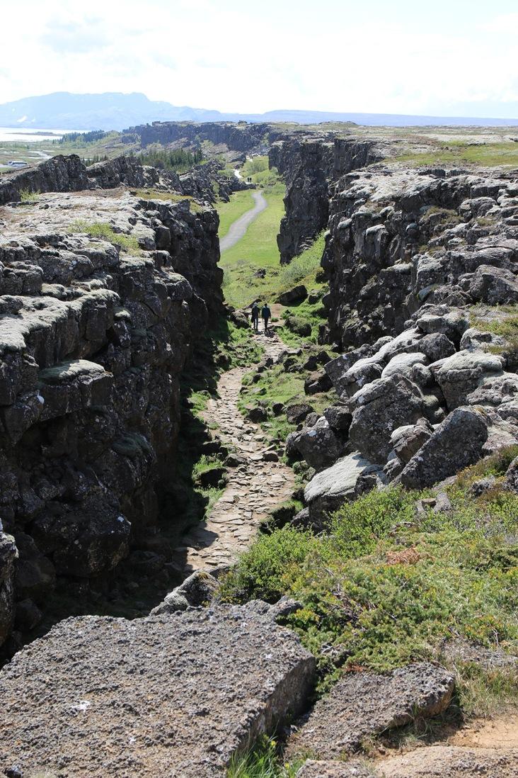 Island Thingvellir Weg durch den Graben