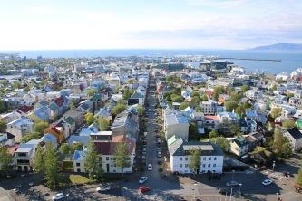 Reykjavik Hallgrimskirkja Aussicht