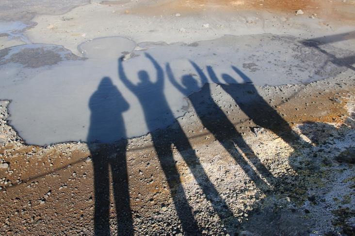 Seltun Geothermalgebiet Schatten