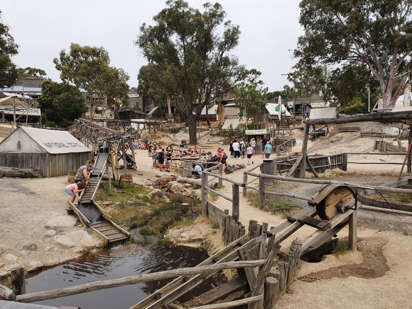 Ballarat Sovereign Hill Goldwaschen