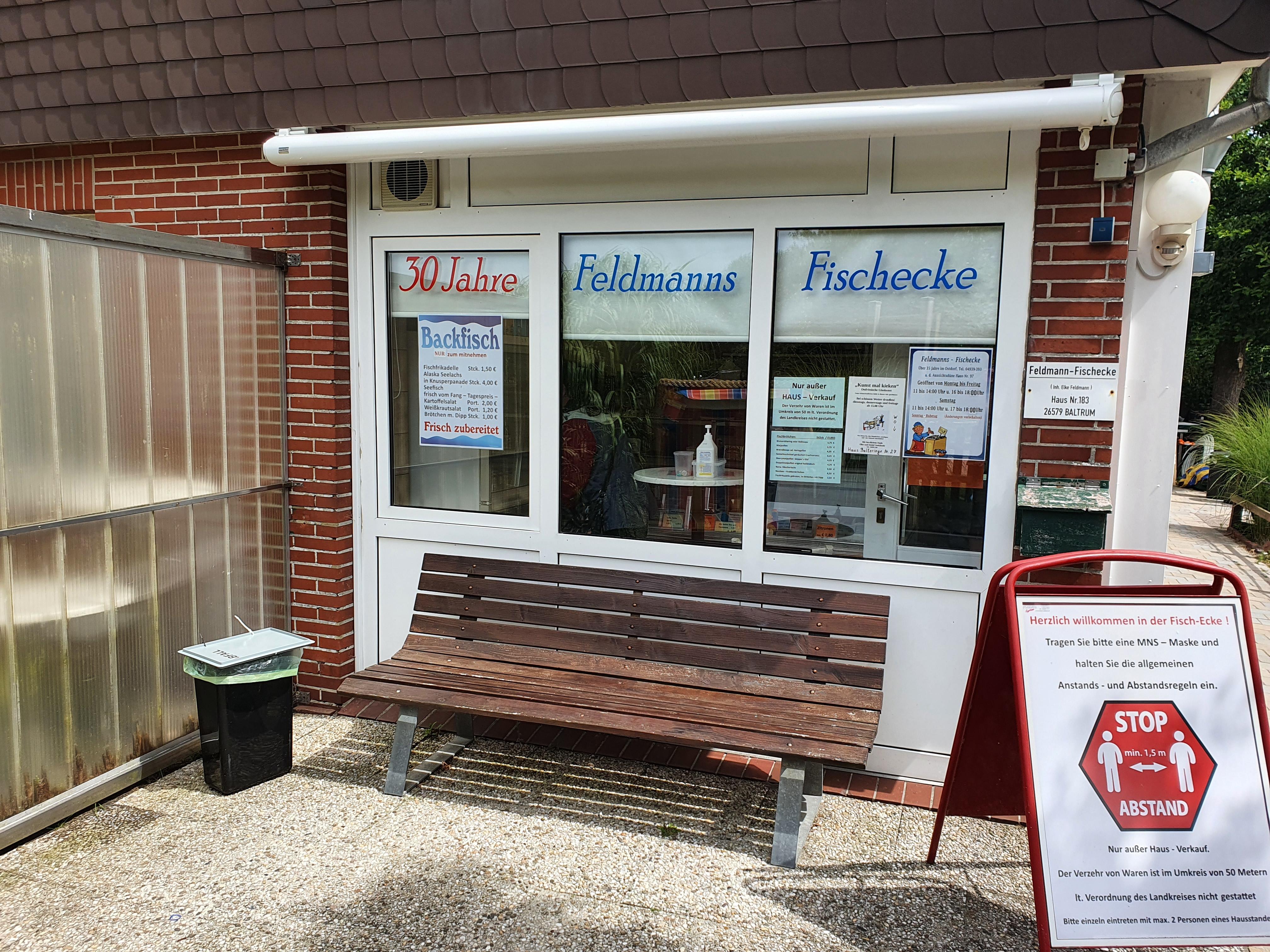 Feldmanns Fischecke auf Baltrum