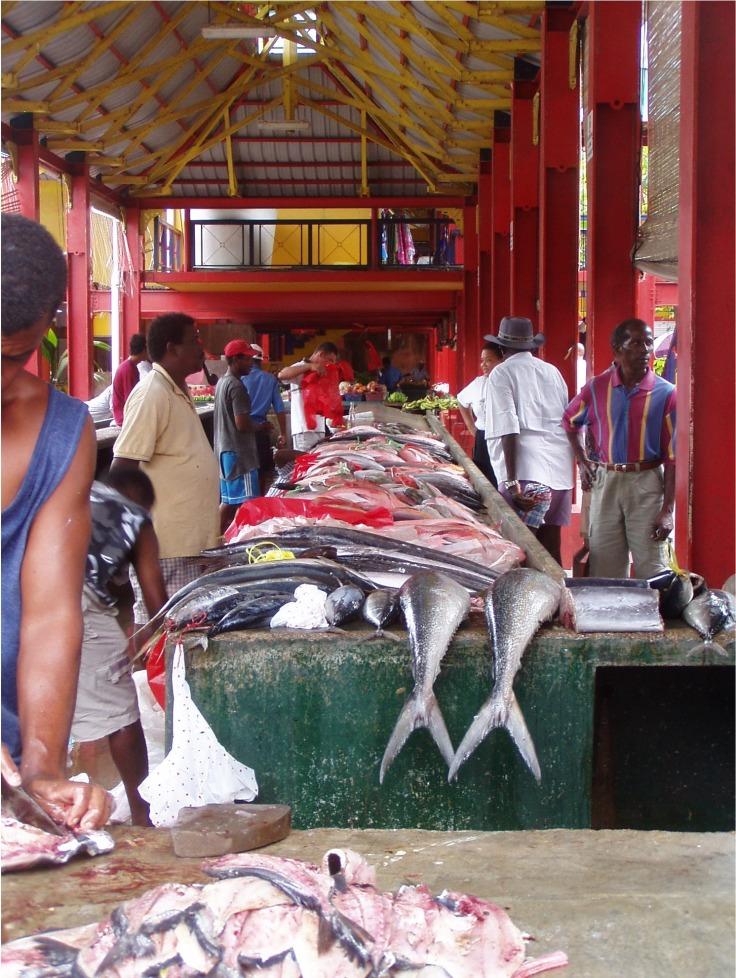 Fischmarkt Mahe Seychellen