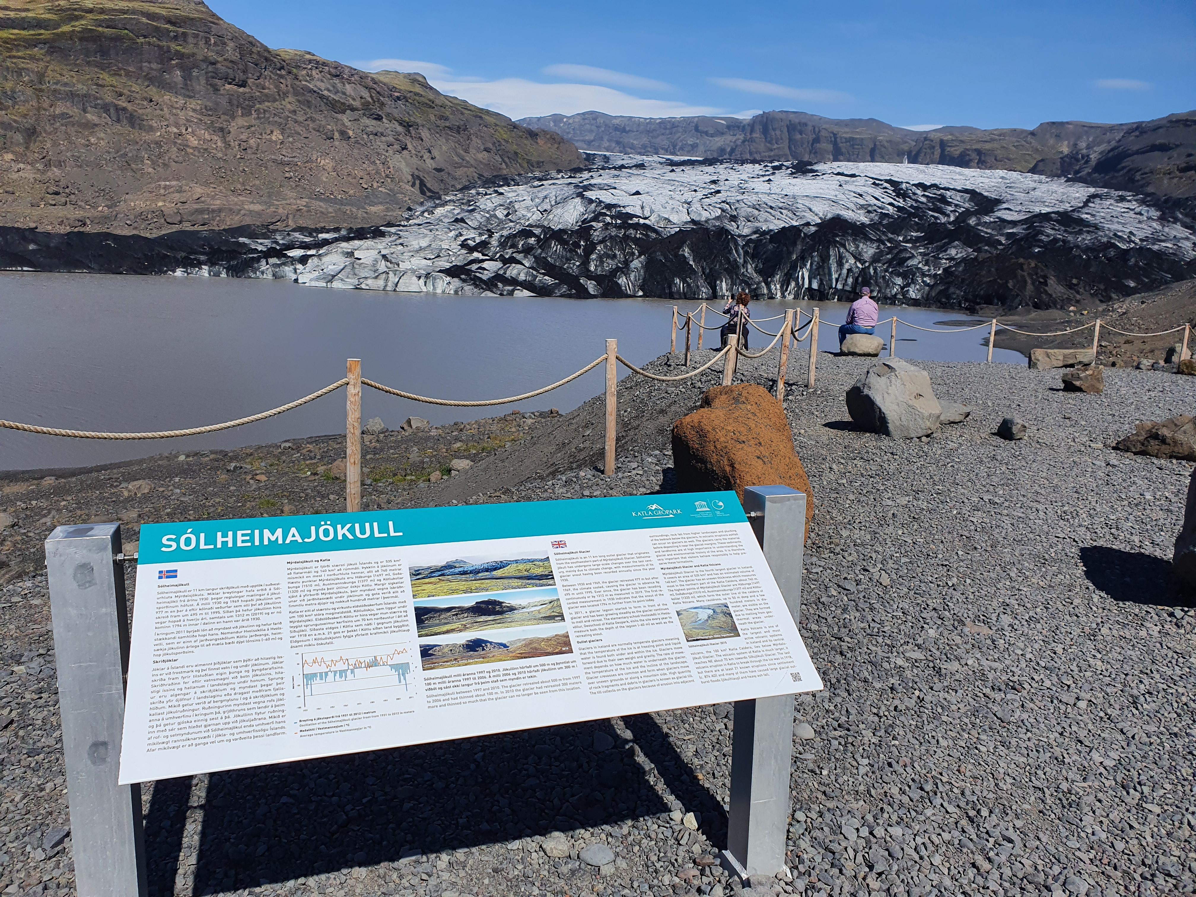 Gletschersee des Solheimajökull