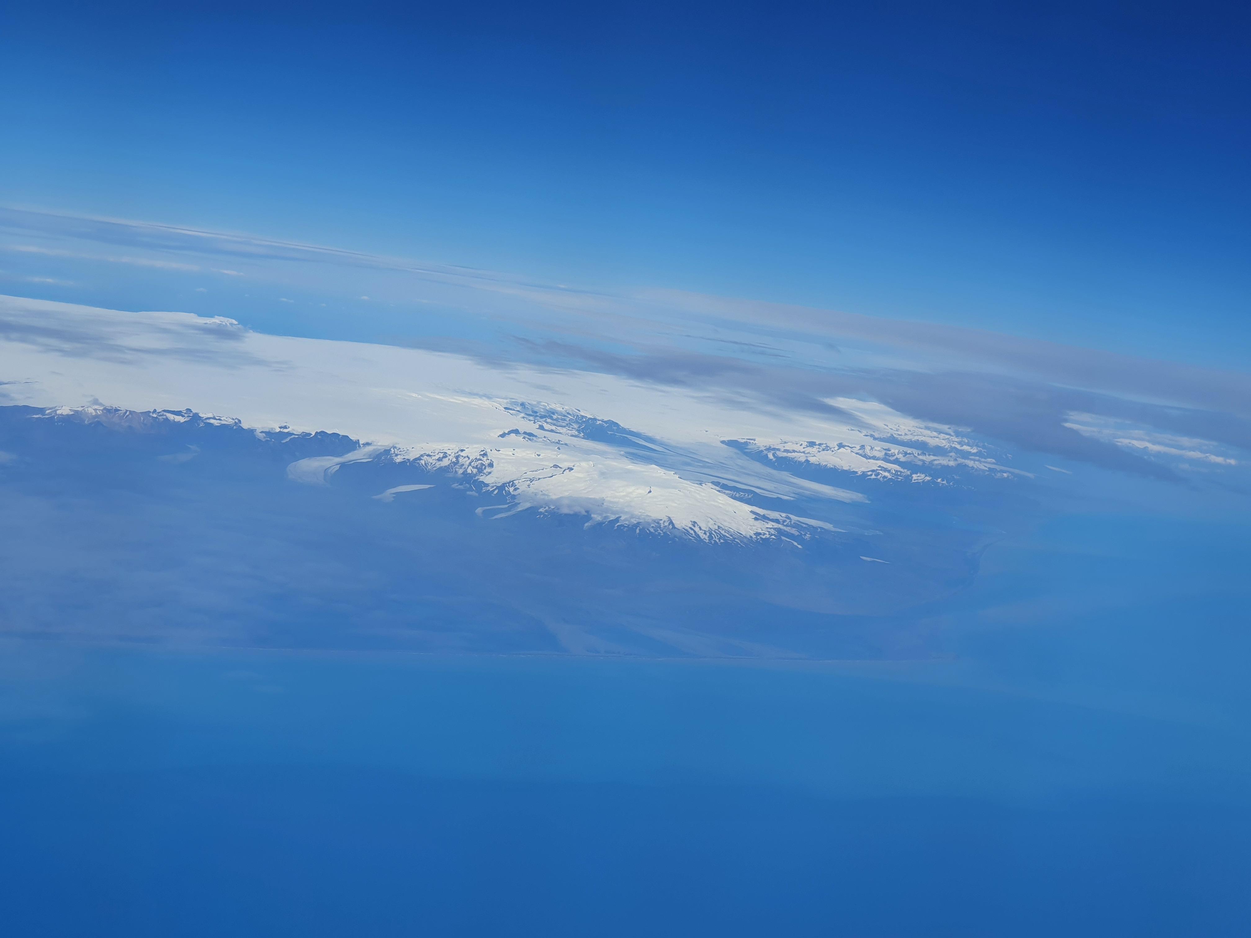 Island Vatnajökull aus dem Flugzeug