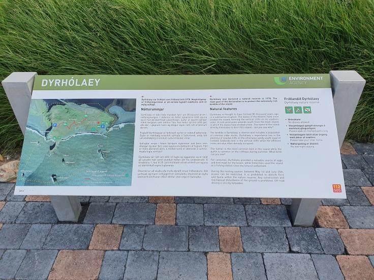 Island Dyrholaey Naturschutzgebiet Karte