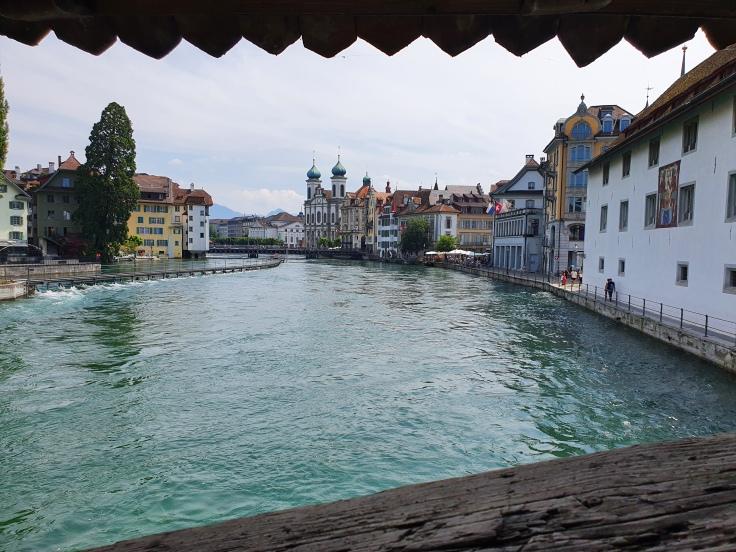 Luzern Blick von Spreuerbrücke