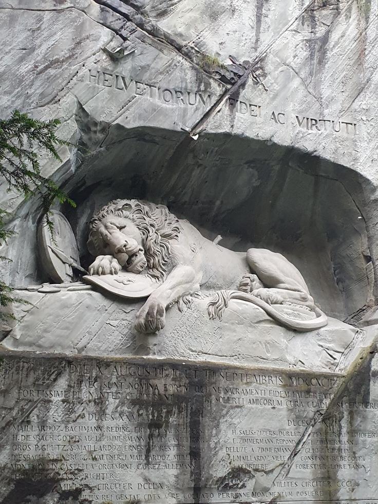Luzern Sterbender Löwe