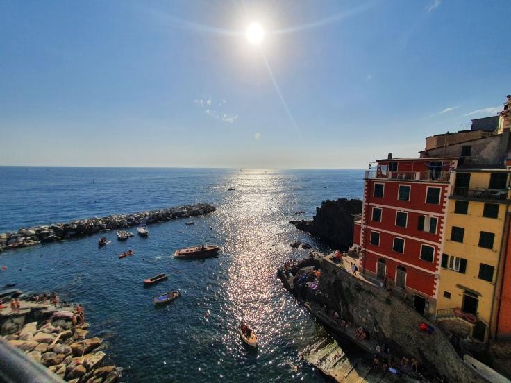 Cinque Terre Riomaggiore Blick vom Apartment
