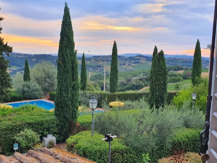 Montespertoli Villa La Cappella Blick über Chianti