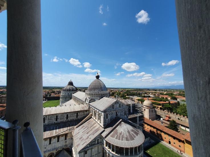 Pisa - Blick vom Schiefen Turm auf den Dom