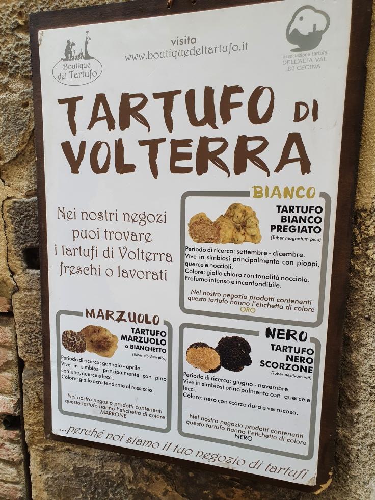 Volterra - Hauptstadt des Trüffels