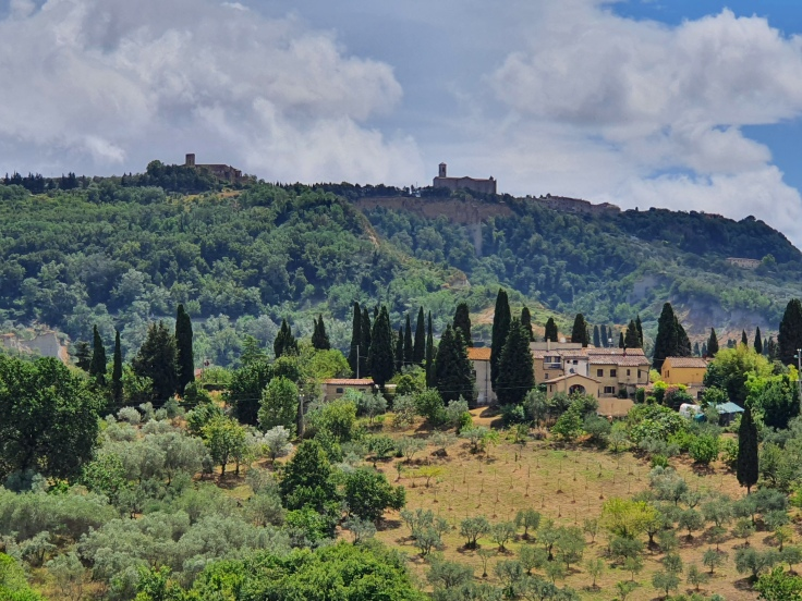 Toskanische Landschaft - Anfahrt auf Volterra