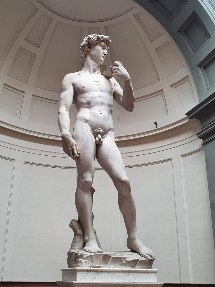 Florenz - Michelangelos David in der Galleria dell'Accademia