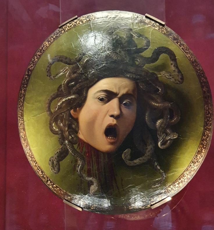 Florenz - Uffizien: Caravaggios Medusa