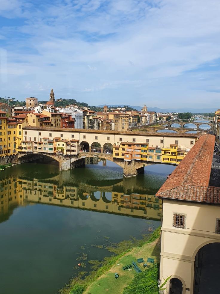 Florenz - Ponte Vecchio von den Uffizien aus