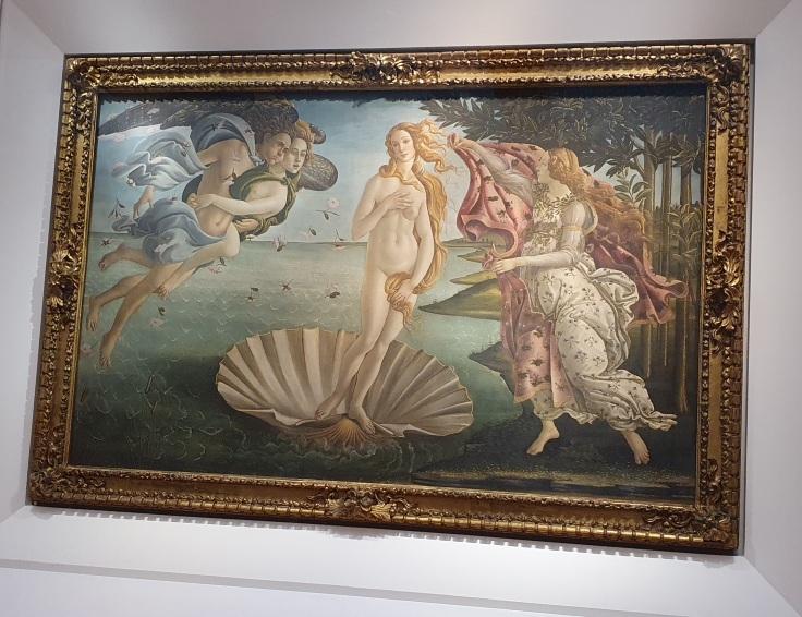 Florenz - Uffizien: Botticellis Geburt der Venus