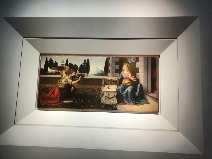 Florenz - Uffizien: Die Verkündigung von Da Vinci